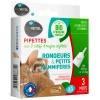 3 pipettes insectifuge Bio pour rongeurs et petits mammifères - Biovétol