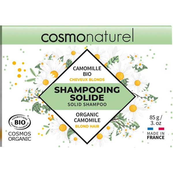 Shampooing solide cheveux blonds Camomille Bio - 85gr - Cosmo Naturel - Vue 2