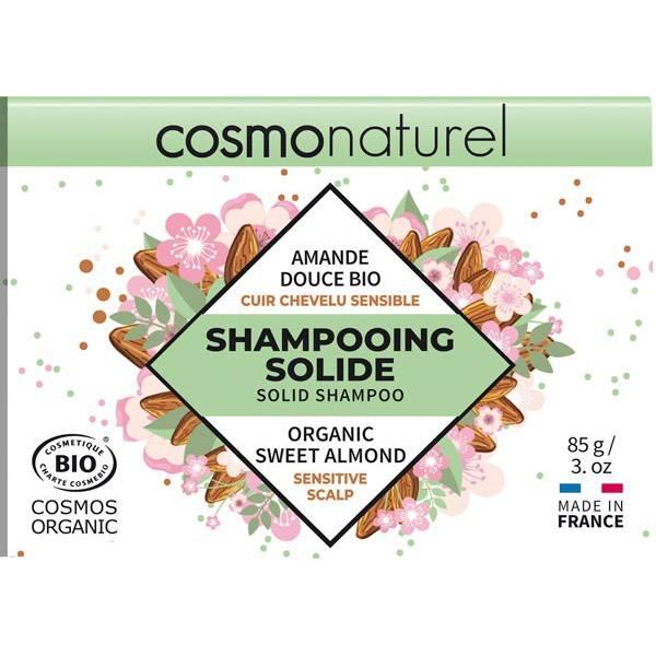 Shampooing solide cuir chevelu sensible Amande douce bio - 85gr - Cosmo Naturel - Vue 2