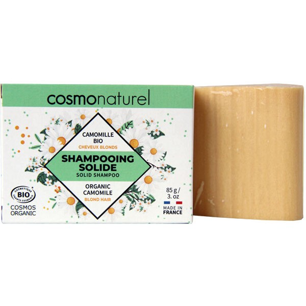 Shampooing solide cheveux blonds Camomille Bio - 85gr - Cosmo Naturel - Vue 1