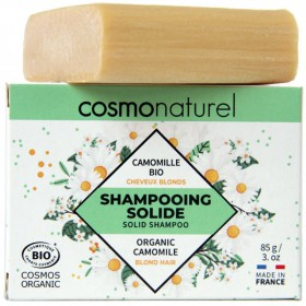 Shampooing solide cheveux blonds Camomille Bio - 85gr - Cosmo Naturel