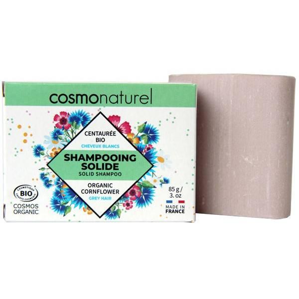 Shampooing solide cheveux blancs Centaurée bio - 85gr - Cosmo Naturel - Vue 1