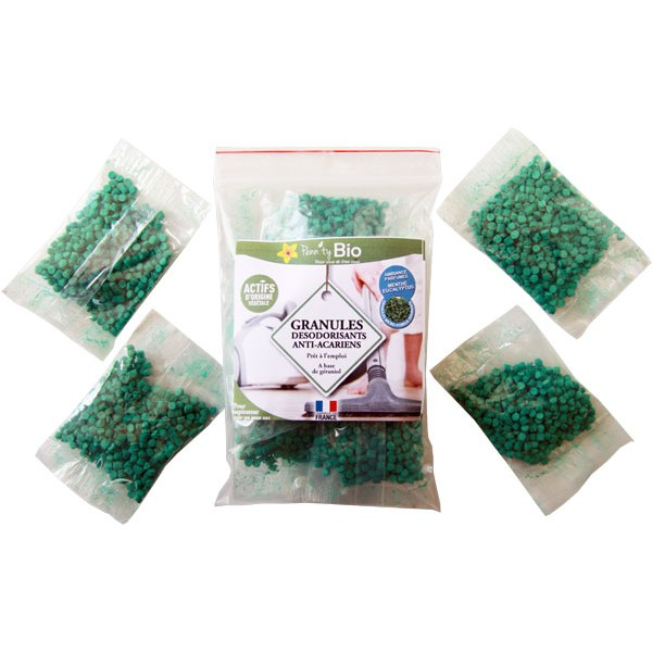 Granulés désodorisants anti-Acariens pour aspirateur - 20 grs - Penntybio - Vue 1