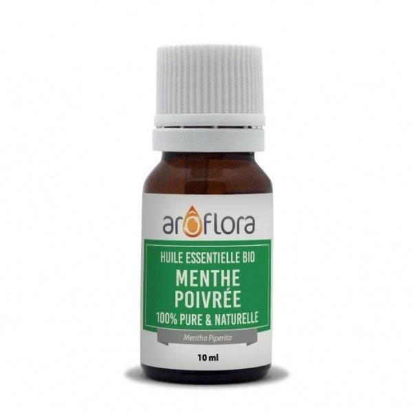 Menthe poivrée AB - Feuilles - 10 ml - Huile essentielle Aroflora