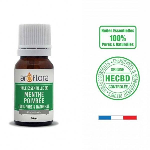 Menthe poivrée AB - Feuilles - 10 ml - Huile essentielle Aroflora - Vue 1