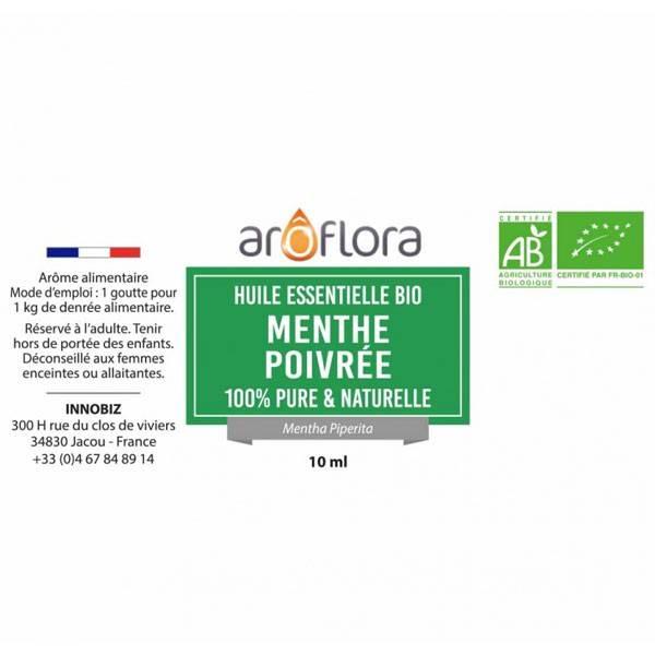 Menthe poivrée AB - Feuilles - 10 ml - Huile essentielle Aroflora - Vue 2