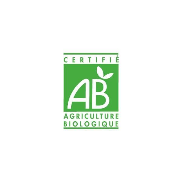 Logo Agriculture Biologique pour l'huile essentielle de Menthe poivrée Aroflora