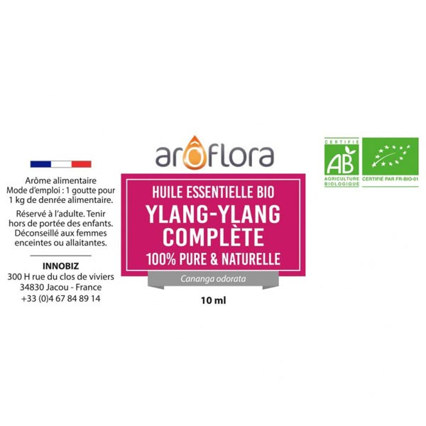 Ylang ylang AB - Fleur - 10 ml - Huile essentielle Aroflora - Vue 2