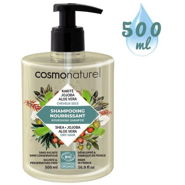 Shampooing Cheveux Secs Karité Jojoba Aloe – 500 ml – Cosmo Naturel