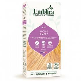 Coloration végétale Blond Ambré 7.3 - 100 gr - Emblica