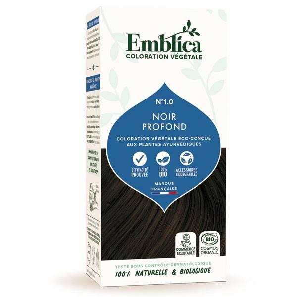 Coloration végétale Noir profond n°1.0 - 100 gr - Emblica