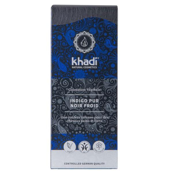Coloration naturelle aux plantes Indigo Pur Noir froid - 100 gr - Khadi® - Vue 1
