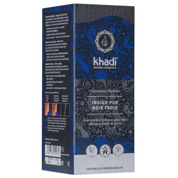 Coloration naturelle aux plantes Indigo Pur Noir froid - 100 gr - Khadi®