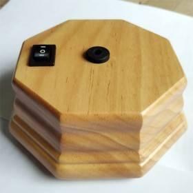 Pompe octogonale seule bois clair pour diffuseur d'huiles essentielles