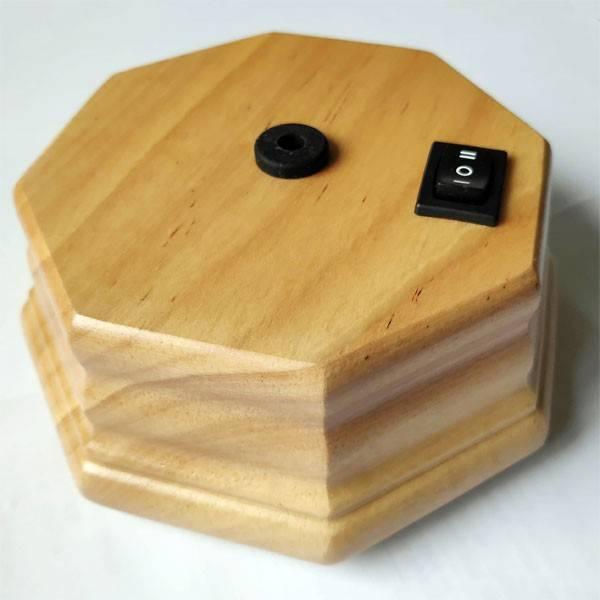 Pompe octogonale seule bois clair pour diffuseur d'huiles essentielles - Vue 1