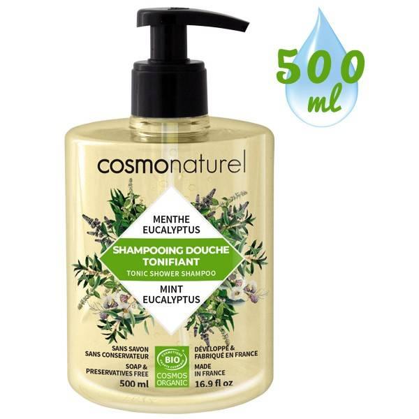 Shampooing douche Tonifiant Menthe Eucalyptus – 500 ml – Cosmo Naturel