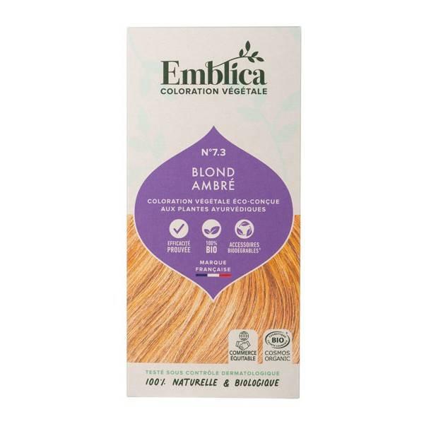 Coloration végétale Blond Ambré n°7.3 - 100 gr - Emblica - Vue 1