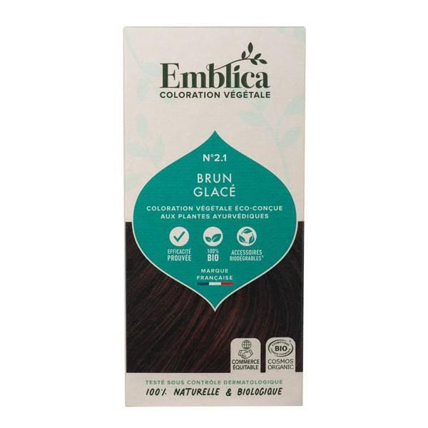 Coloration végétale Brun glacé n°2.1 - 100 gr - Emblica - Vue de face