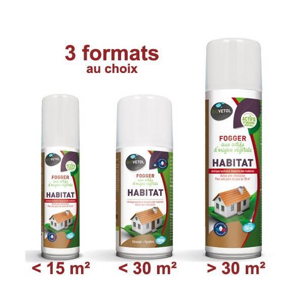 3 modèle de foggers Habitat aux actifs d'origine végétale - Biovétol