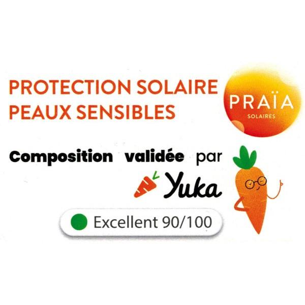 Praïa Solaires - Composition validée par Yuka