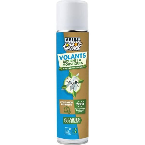 Insecticide volants mouches moustiques au pyrèthre végétal - 300 ml - Aries