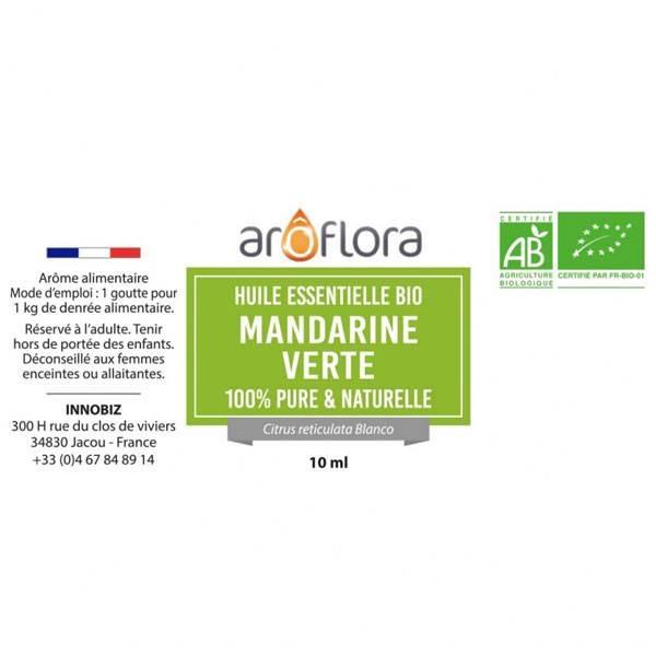 Huile essentielle de Mandarine verte AB Aroflora - Vue 1