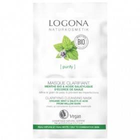 Masque clarifiant Menthe bio / Acide salicylique - 2 x 7,5 ml - Logona