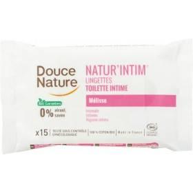 Lingettes toilette intime Natur'Intim – x15 – Douce Nature