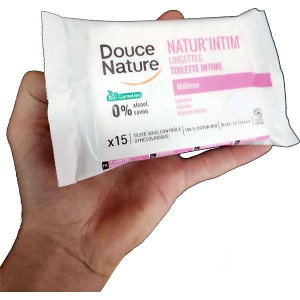 Lingettes toilette intime Natur'Intim – x15 – Douce Nature - Vue 1