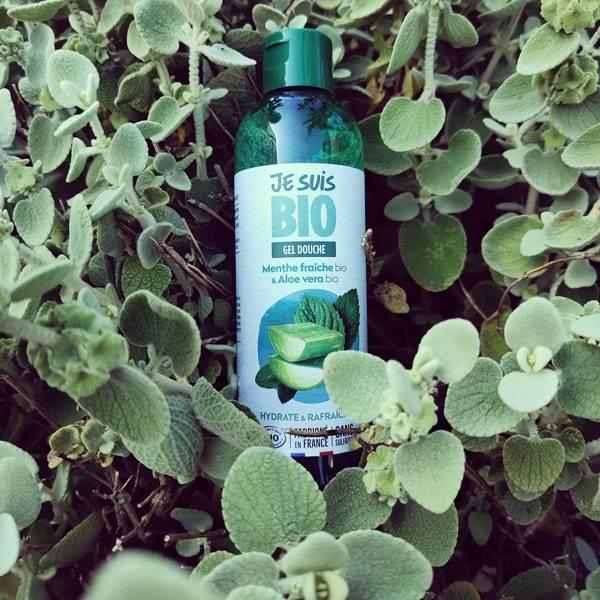 Gel douche Menthe fraîche bio et Aloe vera bio - 250 ml - Je suis Bio - Photo d'ambiance