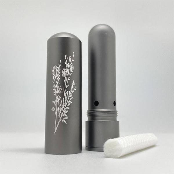 Diffuseur inhalateur Inalia d'huiles essentielles en aluminium - Gris - Innobiz - Vue 1