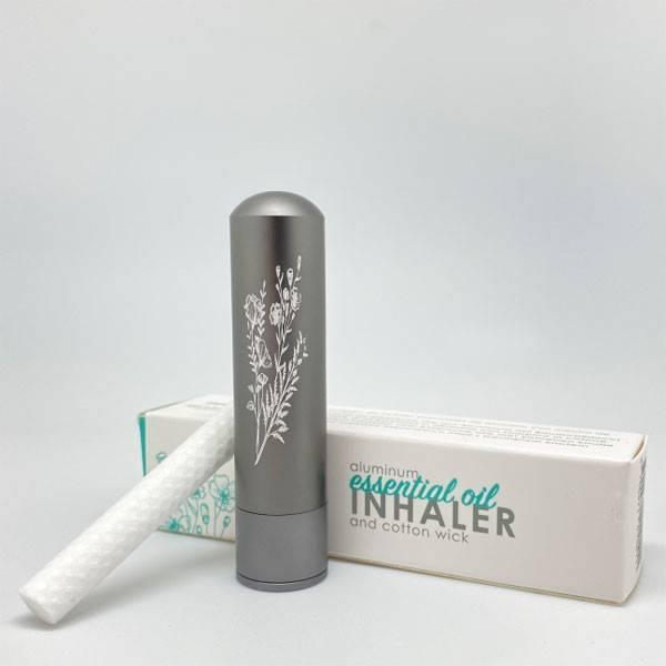 Diffuseur inhalateur Inalia d'huiles essentielles en aluminium - Gris - Innobiz - Vue 4