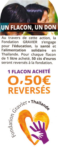 Un flacon, un don - Fondation Gravier