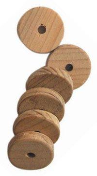 Jetons en bois de cèdre pour lutter contre les mites
