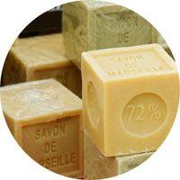 Les différentes couleurs du savon de Marseille