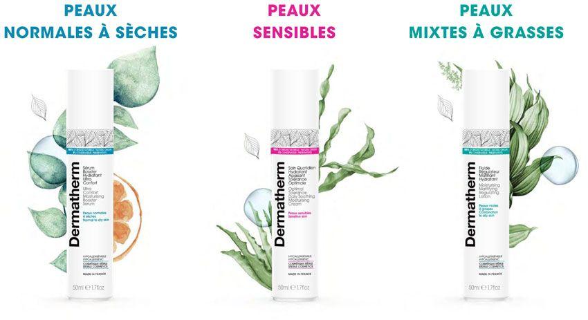 Les gammes de produits Dermatherm
