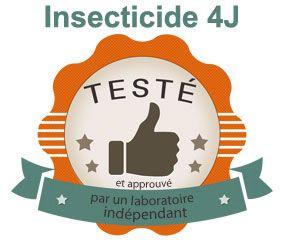 Etude par le laboratoire T.E.C de l'insecticide 4J