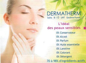 Dermatherm, soins Bio UHT