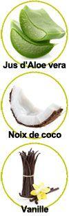 Actifs pour le gel douche Coco Vanille