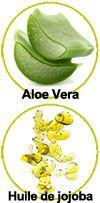 Actifs Aloe vera, huile de jojoba