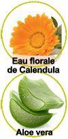 Actifs Eau florale de Calendula et Aloe Vera
