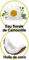 Actifs eau florale de Camomille et d'huile de coco