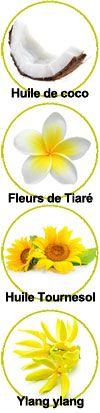 actifs huile de soin Tiaré Praïa Monoï