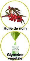 Actifs Huile de ricin bio et glycérine végétale