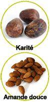Actifs beurre de karité et amande douce