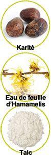 Actifs Karité, Hamamelis et Talc