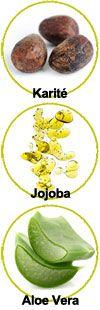 Actifs beurre de karité, jojoba et Ale Vera