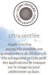 argile blanche ultra ventilée
