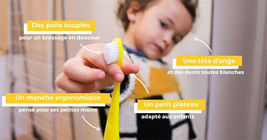 Brosse à dent écologique à tête rechargeable pour enfant Caliquo