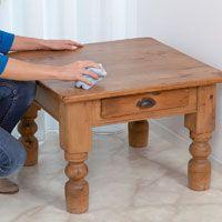 Utilisation du lait de cire Carnauba pour l'entretien d'un meuble